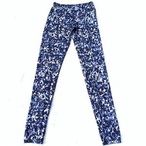 BEYOND YOGA Blue Specked Mid Waist Legging Yoga S